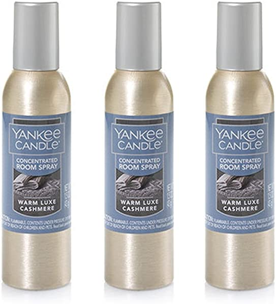 Yankee Candle Concentrated Room Spray 3 Pack Warm Luxe Cashmere
