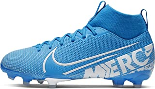 Jr. Mercurial Superfly 7 Academy MG Kids' Multi-Ground Soccer Cleat (1, Blue Hero/Obsidian/White)
