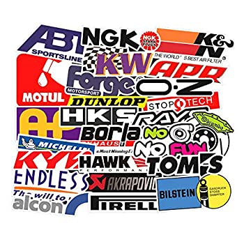 Laptop Stickers Pack [103pcs] Racing Stickers Bomb Stickers,Cool Stickers for Motorcycle Skateboard Travel Sticker Laptop Luggage Car Bicycle Helmet Stickers