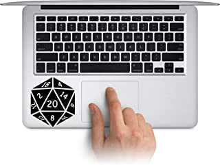 D20 Gaming Car Sticker #114 Icosagon Sticker // 4.75h x 4.25w D20 Decal Gaming Dice Laptop Decal 20 Sided Dice Laptop Sticker