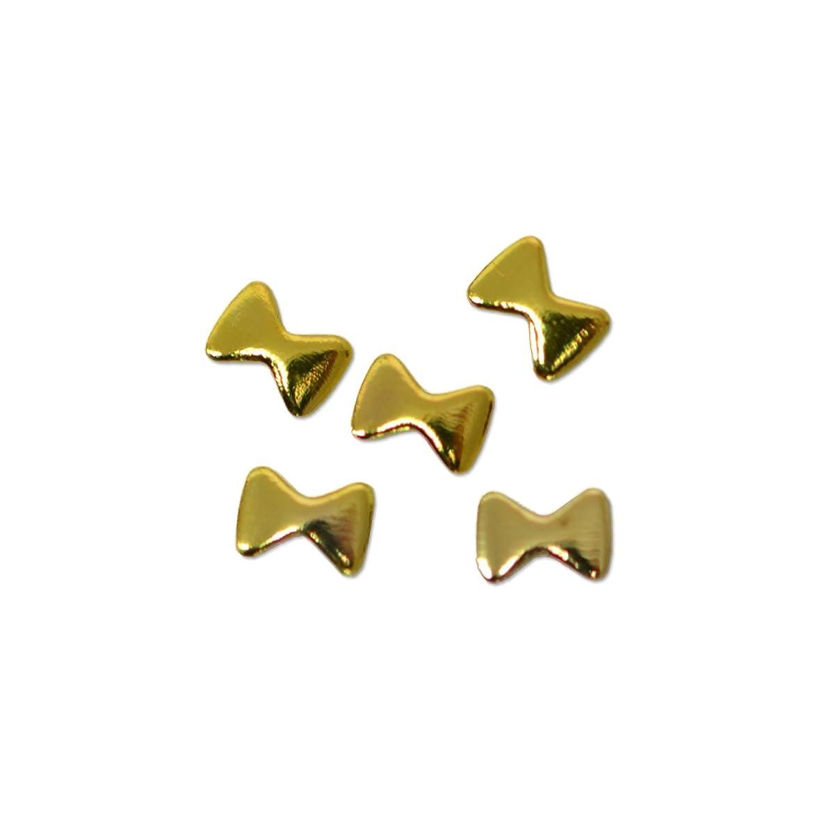 ひらめきコールド宗教メタルパーツ ミニキャンディー リボン 2mm×3mm (ゴールド)/20p入り プリンセスネイル