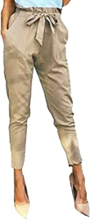 978bbac441f7d StyleDome Femme Pantalon Taille Haute Casual Jambière Slim Crayon Jeggings  Bowknot