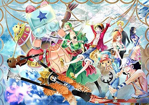 Slbtr [Últimas Noticias] DIY Lienzo Pintura - One Piece Luffy Y Sus Amigos -Pintura por Numero Kits Decoración del Hogar 16*20 Pulgadas Regalos para Principiantes Amigos Y Niños En Pintura- Sin Marco