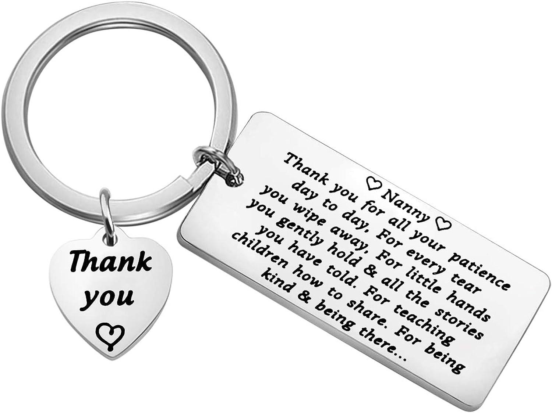 Popular popular Japan Maker New FUSTMW Nanny Thank You Gift Appreciation Keychain fo Gifts