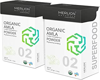 Organic Amla Powder by Merlion Naturals (Indian Gooseberry/Emblica Officinalis) - USDA NOP Certified 100% Organic (16 OZ)