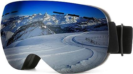 modesoda Ski Goggles for Women Men Over Glasses Ski Snowboard Goggles Anti Fog UV Protection