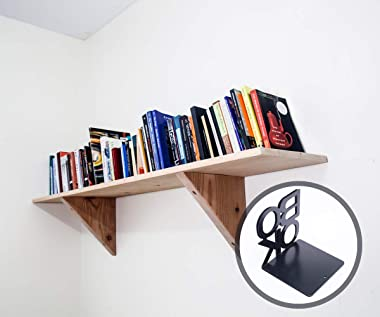Book Ends - Decorative Metal Book Ends Supports for Bookrack Desk,Books, Unique Appearance Design,Heavy Duty