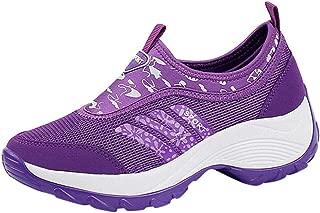 Sylar Mujer Zapatillas De Deporte Cu/ña Zapatos para Correr Plataforma Ligero Y Conveniente Suela Gruesa Zapatos para Caminar Zapatillas De Correr