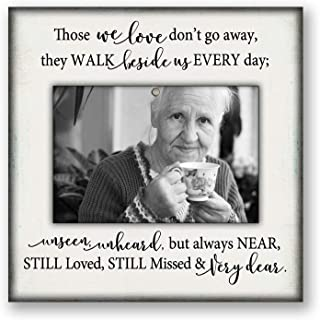 8.5x8.5 in desktop memorial picture photo frame, bereavement gift, parent, mom, dad, grandma, grandpa, White51