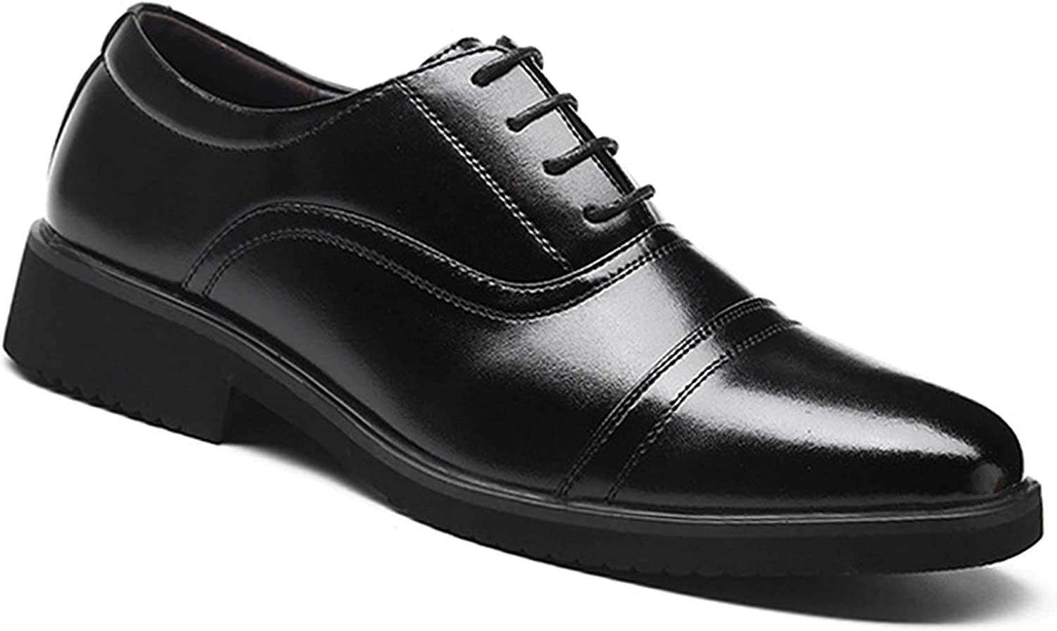 Men's Oxford Dress Shoes Genuine Leather Shoes Lace-up Commuting Anti-Slip Breathable Business Shoes