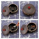 ONEDERZ Aschenbecher für Draußen mit Deckel, Keramik Windaschenbecher Geruchsdicht Sturmaschenbecher für Home Office Dekoration (Braun) - 5