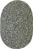 Sabrina Tweed Indoor/Outdoor Oval Braided Rug, 2 by 3-Feet, Graphite