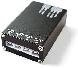 JCOLI 4 Way Car Video Switch Parking Camera 4 View Image Split Screen Control Box
