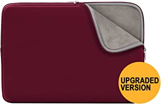 RAINYEAR Inch Laptop Sleeve Protective Soft Lining Case Cover Bag Compatible with 13 3 MacBook Pro Air Retina Touch Bar for 13  Notebook Computer Ultrabook Chromebook Red Upgraded Version