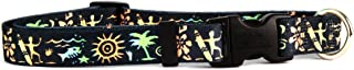 """Yellow Dog Design Primitive Surfer Dog Collar, Large-1"""" wide fits neck sizes 18 to 28"""""""