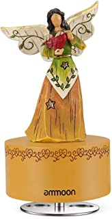 ammoon Music Box Hand-painted Engraving Dancing Angel Classic Melody