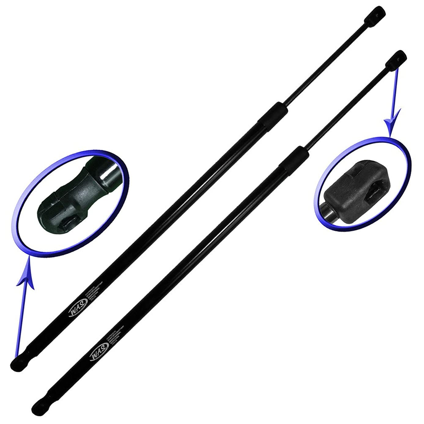 Wisconsin Auto Supply Two Rear Hatch Gas Charged Lift Supports for 2012-2016 Volkswagen Beetle Without Rear Spoiler. Left and Right Side. WGS-705-2,Black