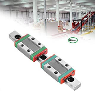 100mm Linear Guideway Rail,MGN9B Bearing Steel Precision Sliding Guide,with 2Pcs MGN9B Rail Block,for Precision Measuring Device,Automation Equipment