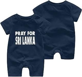 A1BY-5US Baby Infant Toddler Bodysuits Pray for Sri Lanka Cotton Short Sleeve Romper Bodysuit