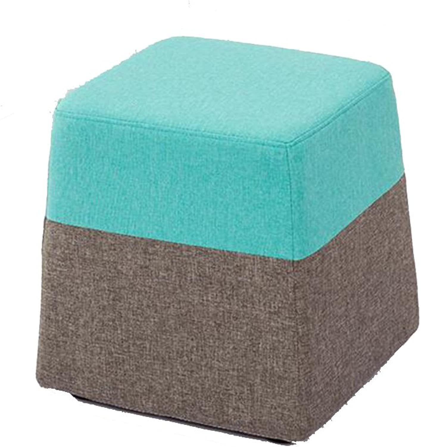 YCS Make-up Stool shoes Stool Cloth Wood Frame Comfortable Bedroom Fitting Room (color   3)