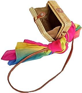 Zinuo Exquisite Straw Bag Women Rattan Woven Shoulder Handbag Summer Beach Crossbody Bag