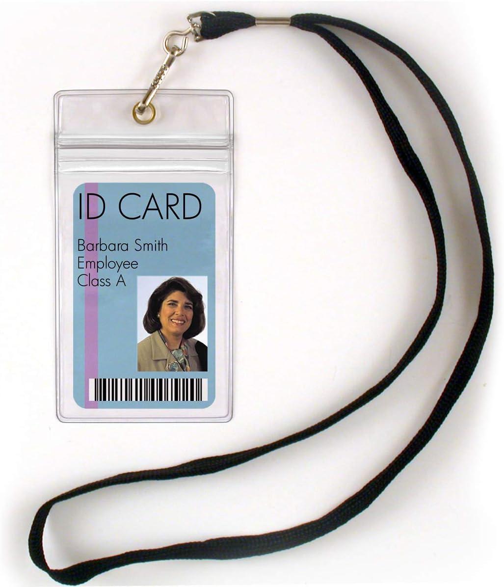 StoreSMART - 100 Pack 毎日がバーゲンセール ID Badge Lanyard Pla with 限定モデル Holder Clear