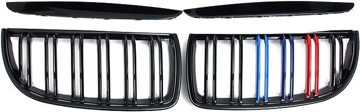 Viviance Car Front Grille Niere Cover Strips Clip Trim F/ür BMW 3Er E90 04-08