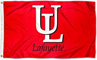 College Flags and Banners Co. Louisiana Lafayette Ragin Cajuns Red UL Logo Flag