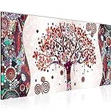 decoración de la mesa Wall Gustav Klimt Árbol de la Vida - 100 x 40 cm Vista de impresión en lienzo Salón Apartamento - listo para colgar - 004612c
