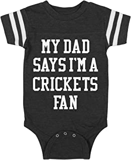 Funny My Dad Says I'm A Crickets Fan: Infant Rabbit Skins Football Bodysuit