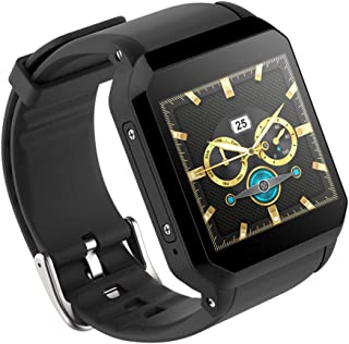 ZMDHLY Smart Watch, Heart Rate Monitor, Camera Function, Bluetooth Alarm Clock, GPS SIM Sports Watch, Android Phone,Black
