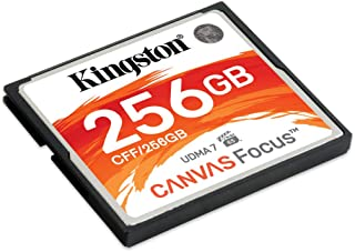 Kingston CF Canvas Focus Compact Flash Memory Card 256GB High Performance for DSLR and Professional Photography Cameras (C...