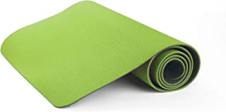 $23 » Mind Reader 2TONEMAT-GRN, Classic 1/4 inch Pro Eco Friendly Non Slip Fitness, Two Tone Workout Mat for Yoga, Pilates and Floor Exercises, Premium TPE Material, Green/Black