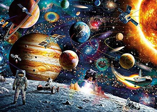 OKOUNOKO 1000 Piezas Puzzles 3D, Planeta Espacial, para Adultos Niños Personalizado, De Madera Montaje Personalizado Rompecabezas Divertido,75X50Cm