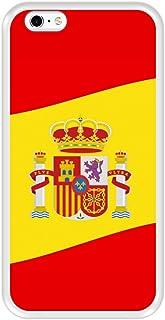 Funda Transparente para [ iPhone 6 Plus - 6S Plus ] diseño [ Ilustración 2, Bandera de España ] Carcasa Silicona Flexible TPU