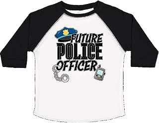 Societee Baby Future Firefighter Girls Boys Toddler Long Sleeve T-Shirt