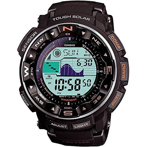 Casio Men's PRO TREK Stainless Steel Japanese-Quartz Watch with Resin Strap, Black, 17 (Model: PRW-2500R-1CR)