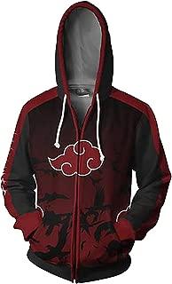 UU-Style Men's Naruto Kakashi Long Sleeve Bomber Jacket Cosplay Costume Jiraiya Hoodie Sweatshirt