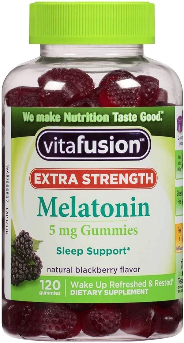 Vitafusion Outlet SALE Extra Strength Melatonin 2021 new 120 Blackberry Gummies ea