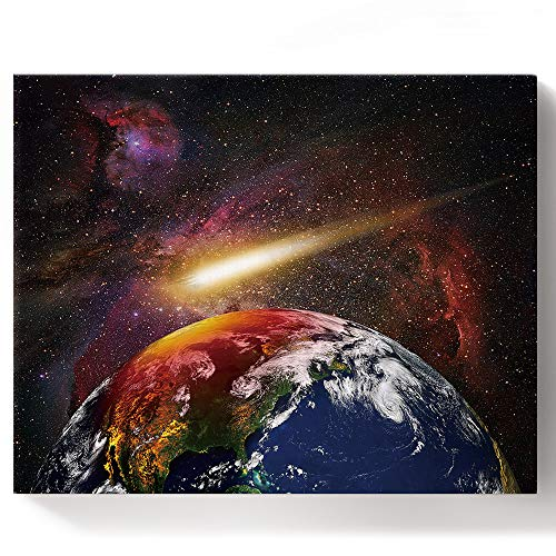 Paint By Numbers Kits Diy Oil Paintings For Adults Kids Beginner With Acrylic Paints And Brushes Planet Earth On The Galaxy Framed Canvas Wall Art Livingroom Bedroom 16x20in Buy Online In