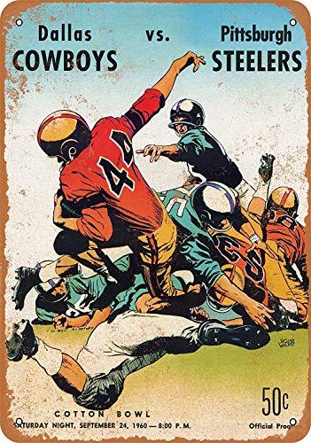 Rugby Game Cartel de chapa vintage, cartel de cartel de metal, placa de pintura de hierro retro, decoración de pared artística, 12 × 8 pulgadas