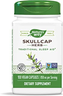 Nature's Way Scullcap Herb, 850 mg per serving, 100 Capsules