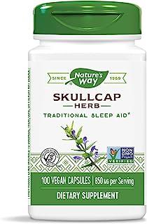 Nature's Way Scullcap Herb, 850 mg per serving, 100 Capsules