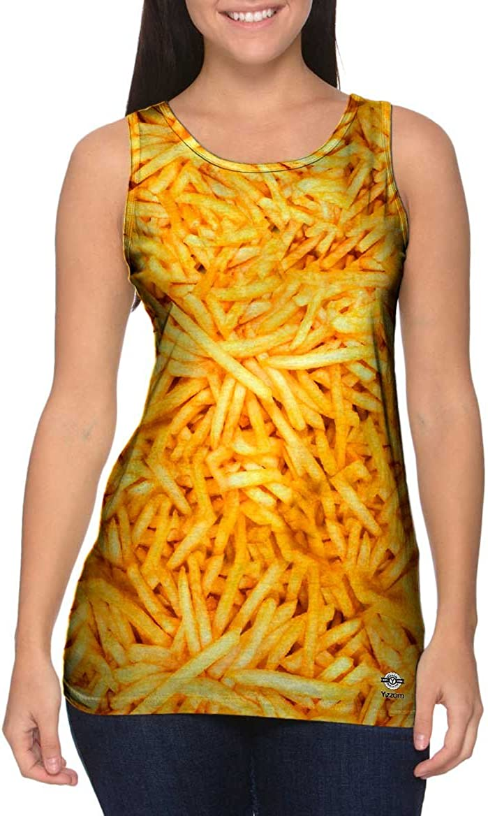 Yizzam- French Fry Frenzy Top -Tshirt- Tank Some reservation Finally popular brand Womens