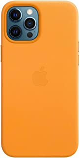 Apple Leather Case with MagSafe (for iPhone 12 Pro Max) - California Poppy