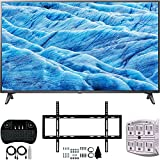 LG 70UM7370PUA 70' 4K HDR Smart LED IPS TV w/AI ThinQ (2019) + Flat Wall Mount Ultimate Bundle +...