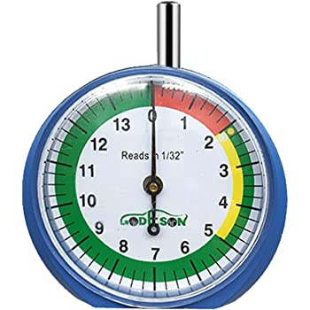 GODESON Dial Type Tire Tread Depth Gauge 88703 prefessional for Motorcycle, car,Truck and Bus
