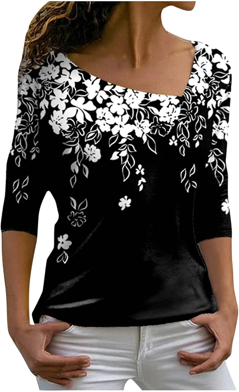Pullover for Womens Long Ranking TOP17 Sleeve Casual Tsh Irregular Tops Shipping included Neck V