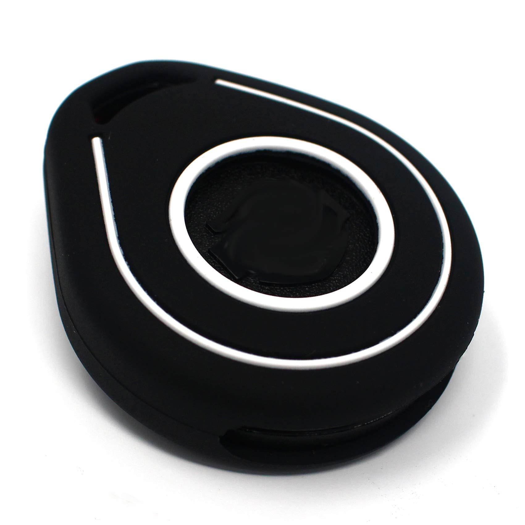 Funda para Llave de Moto HAB de Silicona, Keyless Go (Negro Blanco): Amazon.es: Coche y moto