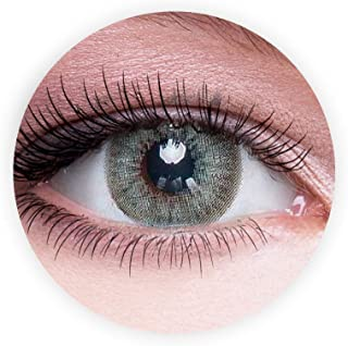 Dahab Gray Green Contact Lenses, Unisex Dahab Cosmetic Contact Lenses, 9 Months Disposable- Eye Enlargement Collection (Gr...